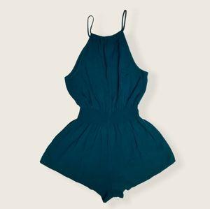 Forever 21 Aqua Blue Short Sleeveless Romper